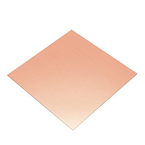 Kupfer Blatt Blechfolie Kupferplatte Dicke 0,2mm 100 x 100mm