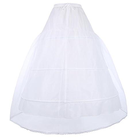 weiß lang petticoat underskirt hochzeit unterrock reifrock crinoline für brautkleid ballkleid CL2705