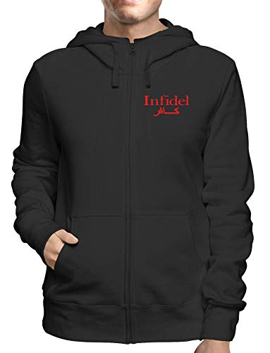 Sweatshirt Hoodie Zip Schwarz FUN1676 Guys Guy Zip Hoodie