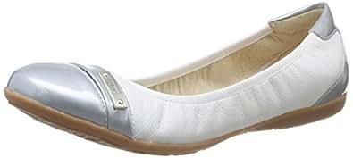 Un Matin d'Eté Colino, Ballerines femme - Blanc (Ch Candy Whit/Vver Glossy Silver), 37 EU (4 UK)