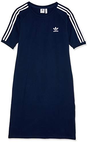 adidas Damen 3-Stripes Kleid Collegiate Navy/White 34