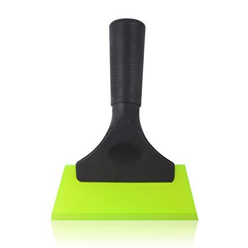 Preisvergleich Produktbild Winjun Auto Eiskratzer Eisschaber Wasserabzieher Duschabzieher Silikon Gummilippe mit Rutschfest Handgriff Grün,  18x13cm,  1 STK.