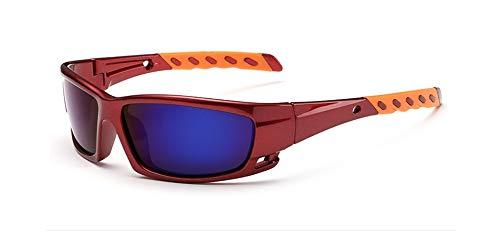 Stillar - der neuen polarisierten Mode Sonnenbrillen Sport-Mann-Frauen Qualität Angeln Fahren Sonnenbrillen Hipster Gafas De Sol [Rot   Blau]