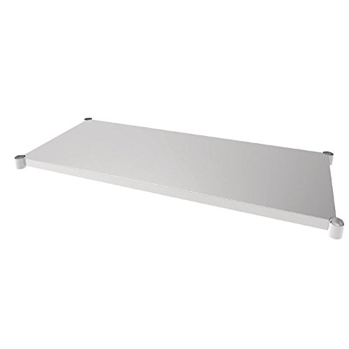 Vogue acero inoxidable estante de mesa 700 x 1500 mm para Mesas Muebles de...