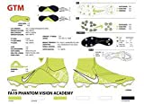 Nike Phantom Vision Academy Dynamic Fit MG, Botas de fútbol Unisex Adulto, Verde White/Volt 717, 43 EU