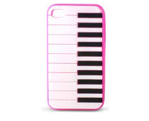 Ksix Freestyle Housse en silicone pour iPhone 4/4S Motif piano Rose rose