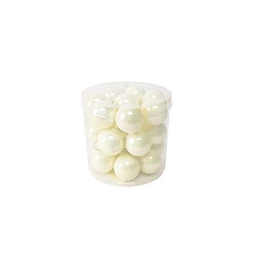 24pz sfera natalizia in vetro bianca perlato palle per albero di natale decorazioni addobbo natale ornamento per albero di natale decoro set da 24 pz palle in vetro bianche palle per albero piccoline