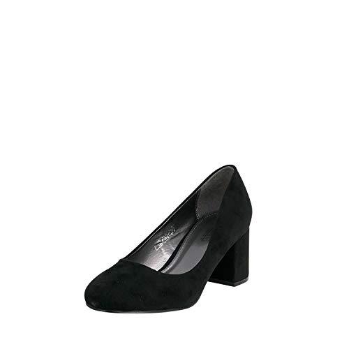 Fitters Footwear That Fits Donne Pompe Sesy Décolleté con Tacco a Blocco (45 EU, Nera)