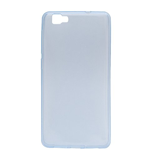 Easbuy TPU Clear Transparent Silikon Tasche Case Etui Cover Hülle für Cubot X15 (Clear Blau)