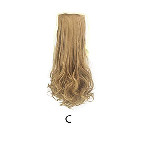 Malloom Damen Damen lange Perücke Kostüm Cosplay Perücken Pop Party Kostüm, 45cm Damen Perücke lange gerade Haar Pferdeschwanz Mädchen nahtlose Haarverlängerung ()