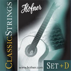 HÖFNER HCS-SET+D Classic Medium Tension E1-E6 Nylon-Saiten für Konzertgitarre