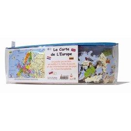 Michèle Wilson - Puzzles en bois Junior - Puzzle en bois la carte d'Europe 50 pcs