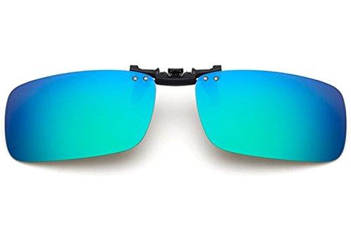 ELSA & ANNA® Unisex Flip-up Polarisierte Sonnenbrillen Klipp auf Sonnenbrille Gläsern Brille VF-GLS-F15 (Blau Quecksilber)