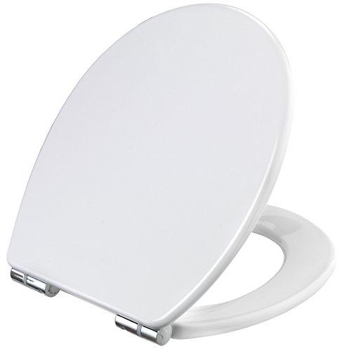 WC-Sitz ALVEA weiß | Toilettensitz | Toilettendeckel | Klodeckel | WC-Deckel | Absenkautomatik | Duroplast | KSALE00
