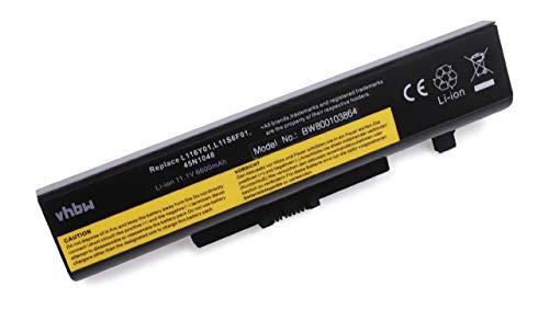 Variation vhbw Li-ION Batterie 6600 mAh (11.1 V) pour Ordinateur Portable Lenovo G500 Serie, G580, g580am, G585, G780, iy485 comme 121000675, 45 N1042, 45 N1043, 4 Akku 6600mAh