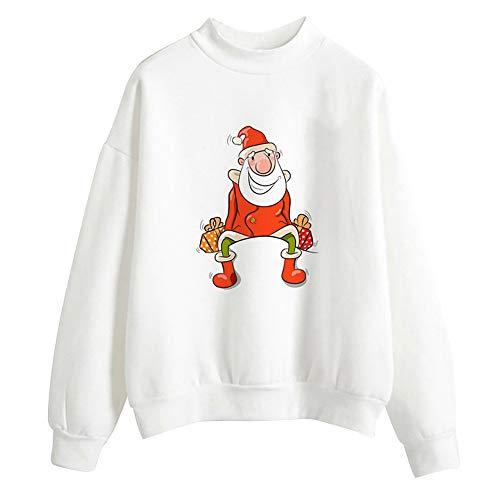 MIRRAY Damen Weihnachten Print Langarm Bluse Pullover Tops Shirt Sweatshirt