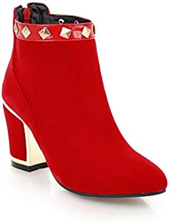 des des des chaussures à talons haut confortable weiyidq dames bottes en daim à court b07gzp9rhk grands chantiers navals parent 8085c1