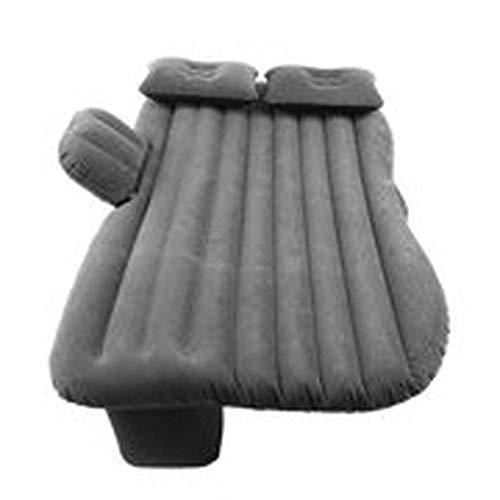 Weiche beflockte PVC-Auto-aufblasbare Bett-Rücksitzmatratze-Luftmatratze für Rest-Schlaf-Reise-kampierende Luft-Couch mit zwei aufblasbaren Kissen Schwarzes @ Schwarzes