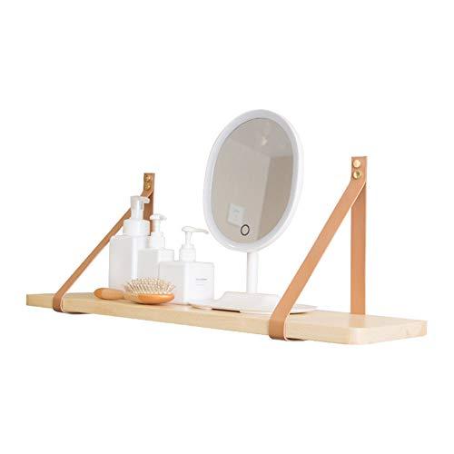 Soportes de estante de cuerda de cuero para proyecto de bricolaje, estantes...