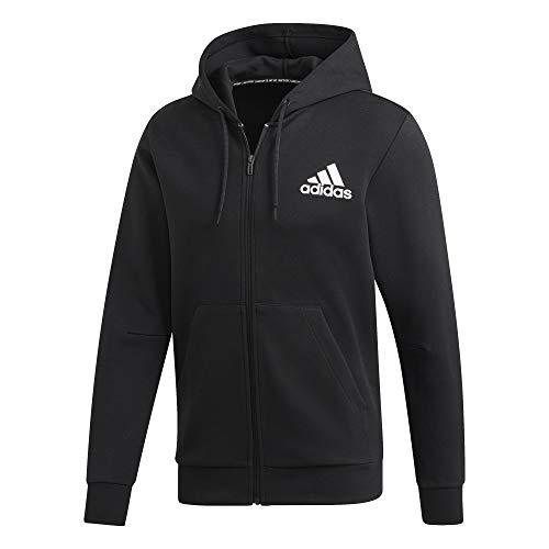 adidas Herren MH Plain FZ Sweatshirt, Black, L