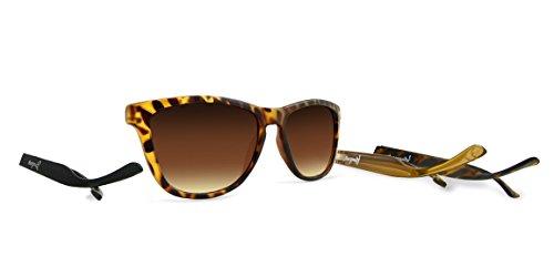 Kameleonz sonnenbrille spiegel brillen bügel Brillensystem mit austauschbaren Bügeln wayfarer uve400 unisex mann frau hülle Mikrofaser-Reinigungstuch Tortoise Triple Set