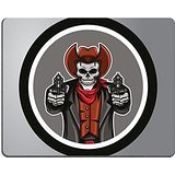 Luxlady Gaming Mouse ID: 40843699 Cowboys Skull Circle sticker