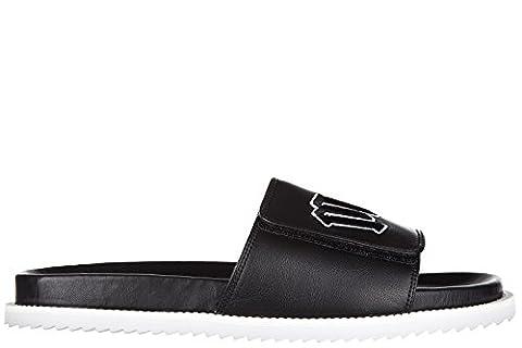 MCQ Alexander McQueen mules sandales chaussons homme en cuir mcq embroidery noir EU 40 452087 R2433