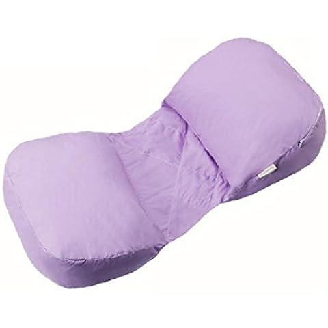 LUN Cuscino di sostegno, regolazione 360 ° COCCOLA ME lato dormire per maternità pancia girovita cuscino a Cuneo con 100% cotone con cerniera sfoderabile gravidanza regolabile posteriore , purple