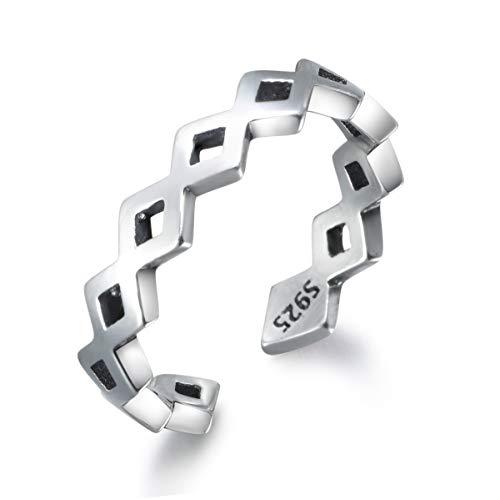 snorso poliert umschlungen Gitter Sterling Silber Stapelbar Daumen Knuckle Zehenring für Frauen Ewigkeit Infinity Ring