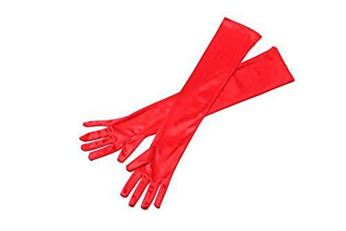 Utopiat Rote lange Satin elegante Vintage Opera Party Handschuhe-Vixen rot