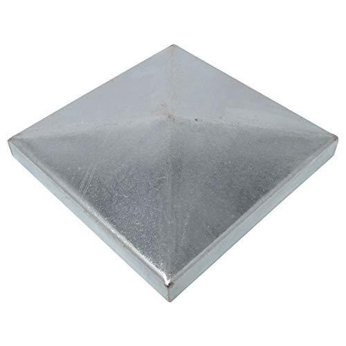 10 x SO-TOOLS® Pfostenkappe Pyramide Edelstahl Abdeckkappe für Pfosten 80 x 80 mm
