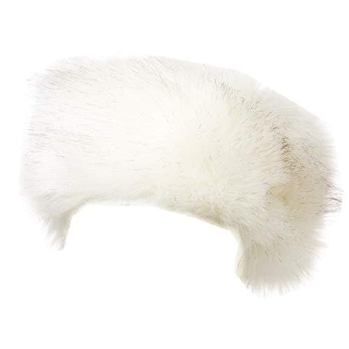 Lucky Leaf Chapeau de Bandeau de fourrure de femmes cachant le réchauffeur d'oreille de fausse fourrure le ski pour Femme (B-Blanc with Noir)