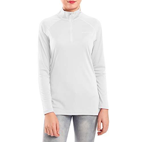 Ogeenier Damen UPF 50+ UV Sonnenschutz 1/4 Zip Langarmshirt Performance Langarm T-Shirt -