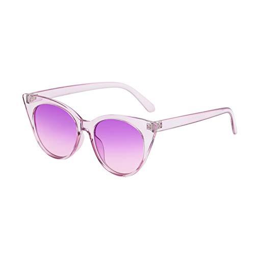 WZYMNTYJ Vintage Sonnenbrille Cat Eye Frauen Männer Sonnenbrille Brillen Eyewear Runder Spiegel HD Ansicht Schatten Mode Neues Material