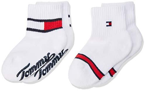 Tommy Hilfiger Unisex Baby TH BABY HERITAGE ABS SOCK 2P Socken, 2per pack Weiß (tommy original 085), 23-26 (Herstellergröße: 23-26)
