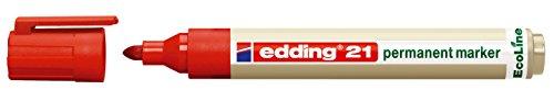 edding Permanentmarker 21 EcoLine, nachfüllbar, 1,5 - 3 mm, Rot