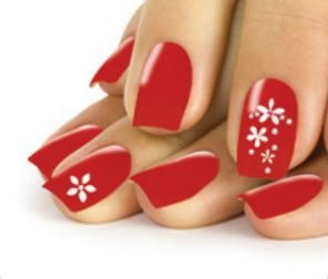 Stickers ongles - fleurs et strass