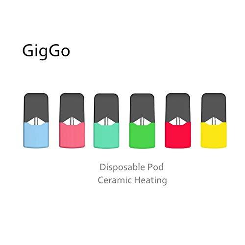 5pcs/ CigGo J Ceramic Coil Pod for CBD Oil and General Eliquid,Ampty 0 6ml  Disposable CBD Oil Ceramic Core Vape Cartridge for CigGo J Pod System Vape