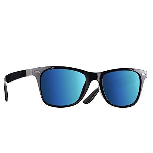 Polarisierte Sonnenbrille Männer Frauen Fahren Square Style Sonnenbrille Männliche Brille Uv400 (Lenses Color : C3Bright Blue Mirror)