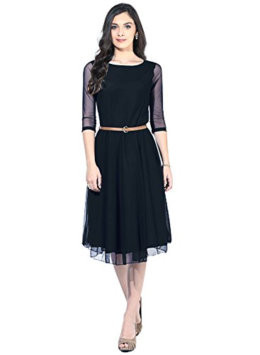 dresses for women(Women's Free Size Net Dress) (black)  available at amazon for Rs.190