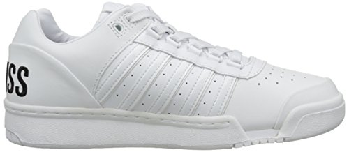 K-Swiss Gstaad Big Logo, Baskets Basses Homme Blanc (White/Black)