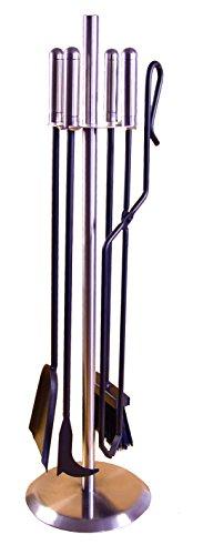 Imex el zorro 12042 - 4 piece pacchetto per camini (acciaio inox, 70 cm), colore nero