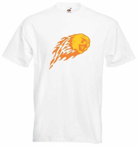 T-Shirt Herren Vogelkopf Weiß