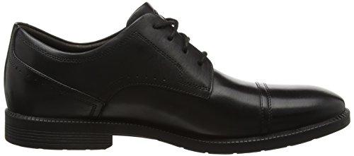 Rockport Dressports Modern Captoe, Scarpe Oxford Uomo Nero (Black Leather)