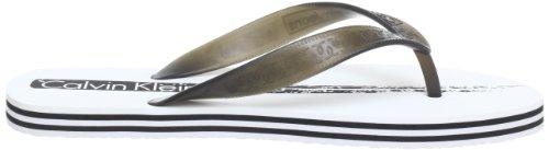 Calvin Klein Jeans Trudi Pvc, chaussons d'intérieur femme Weiß (WBA)