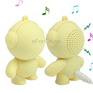 Cute Monster Style Mini Speaker for MP3 / Mobile Phone / Computer (Yellow)