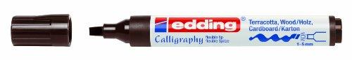 Edding Creative Calligraphy Marker 1455Dark Brown 1to 5mm - Maler-stiefel