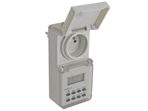 Veka - Programador exterior impermeable (con enchufe de 220 V)