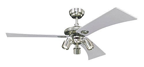 Westinghouse Audubon Ceiling Fan - Brushed Nickel Silver/Maple