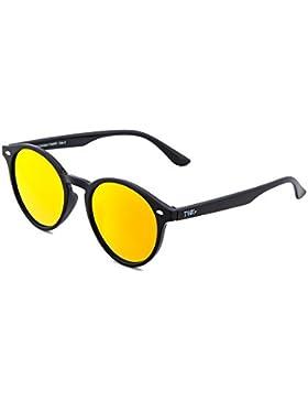 Gafas de sol TWIG POLLOCK redondo espejo hombre/mujer (Negro/Naranja)